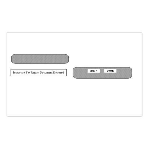 4-Up W-2 Double Window Tax Form Envelope Ver. 1 (9999)