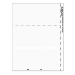 "[5173] 3-Up Blank 1099-MISC Tax Form with Employee Instructions and 1/2"" Side Perf (5173)"