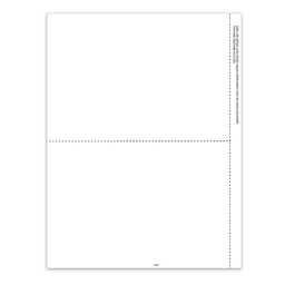 "[5144] 2-Up Blank 1099 Tax Form With 1/2"" Side Perf (5144)"