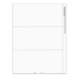 [5211] 3-Up Blank W-2 Tax Form With Employee Instructions Backer (5211)