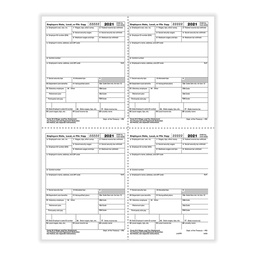 [5405] Tax Form W-2 - Employer Copies - Condensed - 4up Version 1 (5405)