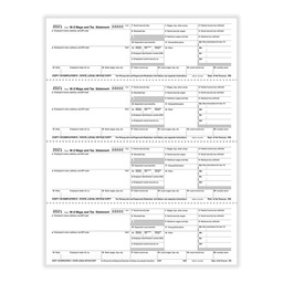 [5406] Tax Form W-2 - Employer State, City or Local Copy - Condensed - 4up (5406)