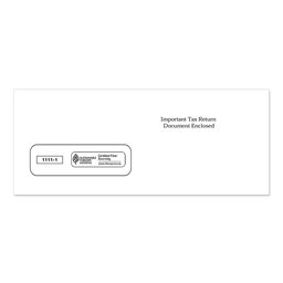 [1111-1] 3-Up 1099 Single Window Tax Form Envelope (1111)