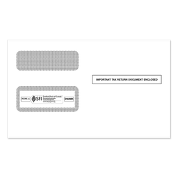 2-Up 1099 Double Window Tax Form Envelope (7777)
